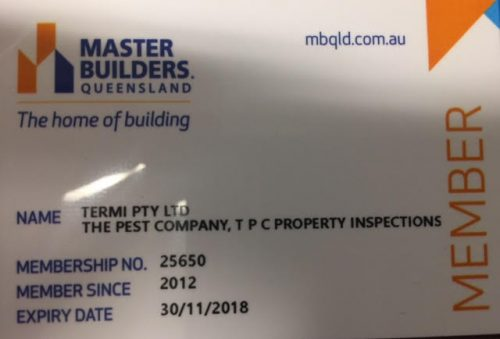 Master Builders Queensland – The Pest Company members since 2012